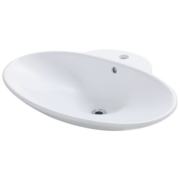 Polaris Sinks P062VW White Porcelain Vessel Sink - 16209487 ...