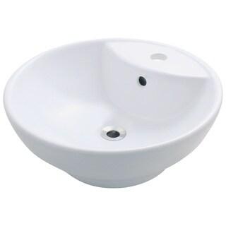 Polaris Sinks P072VW White Porcelain Vessel Sink