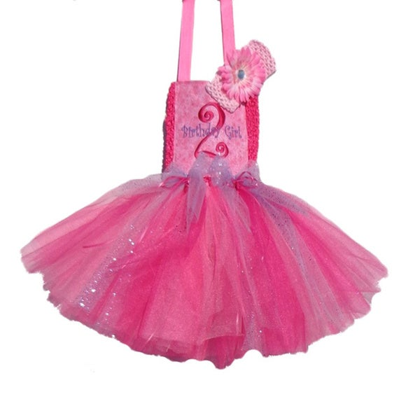 2nd Birthday Embroidery Tutu Dress Set