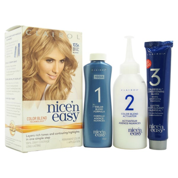 Clairol Nice 'n Easy Permanent 103A Natural Medium Neutral Blonde Hair Color