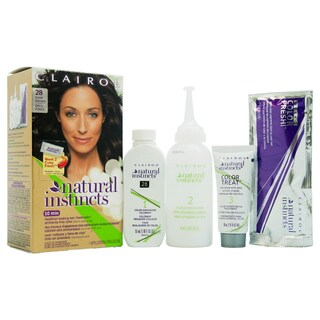 Clairol Natural Instincts Nutmeg Dark Brown 28 Hair Color