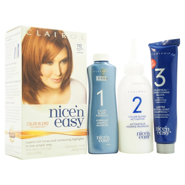 Clairol Nice 'n Easy Permanent 110 Natural Light Auburn Hair Color