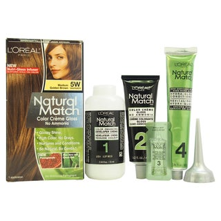 L'Oreal Natural Match 5W Medium Golden Brown Hair Color