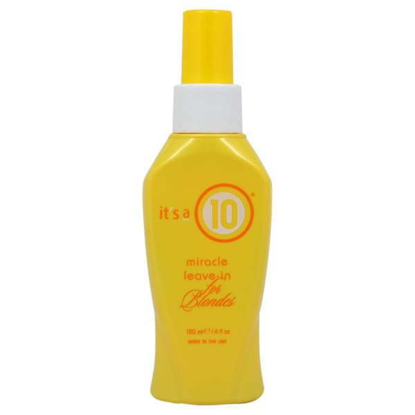 It's A 10 4-ounce Miracle Leave-In Treatment For Blondes
