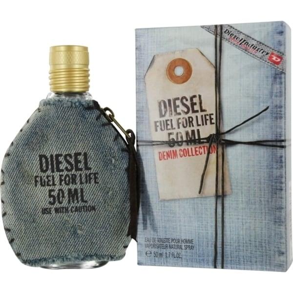 Diesel Men's Fuel For Life Denim Collection 1.7-ounces EDT Spray