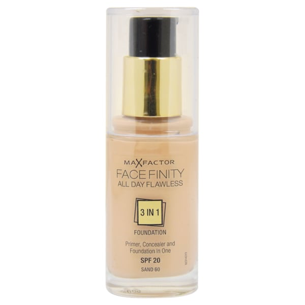 Max Factor Facefinity All Day Flawless 3-in-1 # 60 Sand Foundation 12886870