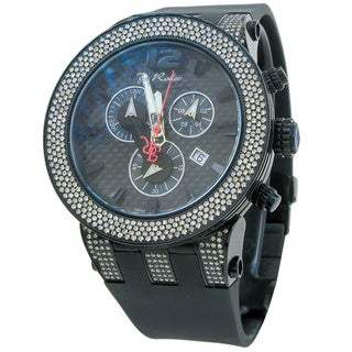 Joe Rodeo Men's 'Broadway' 5ctw Diamond Black Watch