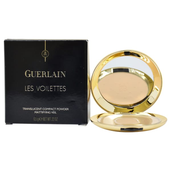 Les Voilettes Translucent Compact Powder - # 3 Medium by Guerlain for Women - 0.22 oz Powder
