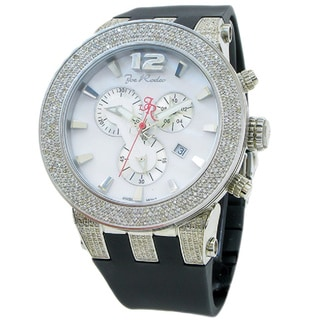 Joe Rodeo Men's 'Broadway' 5ctw Diamond White Dial Watch