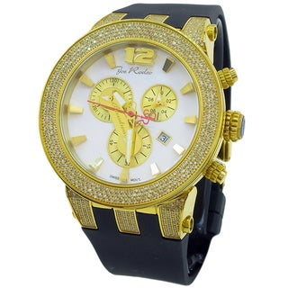Joe Rodeo Men's 'Broadway' 5ctw Diamond Goldtone Watch