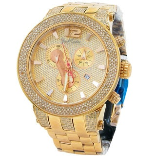 Joe Rodeo Men's 'Broadway' 5ctw Diamond Rose Goldtone Watch