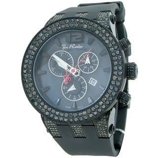Joe Rodeo Men's 'Broadway' 6.5ctw Black Diamond Watch