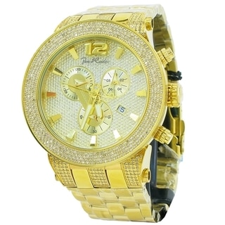 Joe Rodeo Men's 'Broadway' Yellow Goldtone 5ctw Diamond Watch
