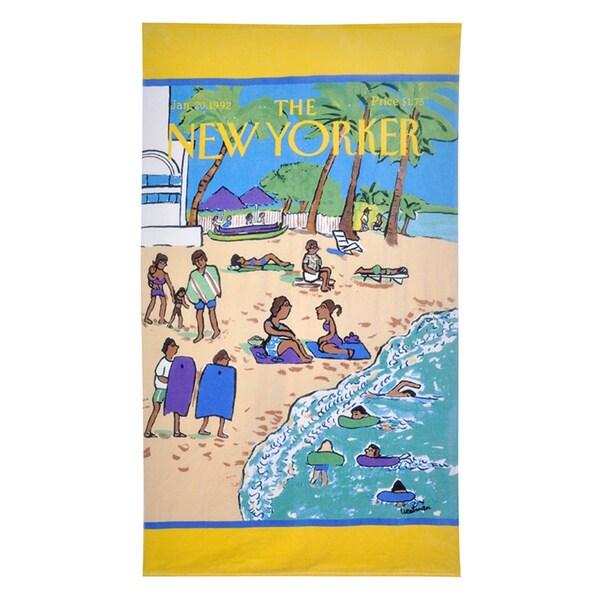 The New Yorker Beach Scene Towel