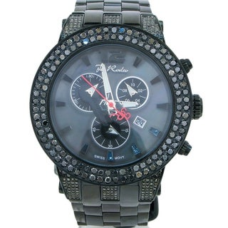 Joe Rodeo Men's Broadway 6.5ctw Black Diamond Watch