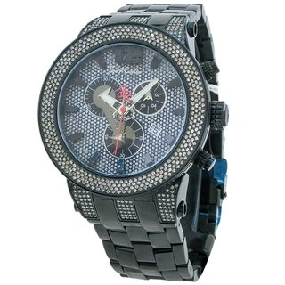 Joe Rodeo Men's 'Broadway' Black 5ctw Diamond Watch