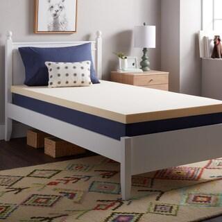 Select Luxury Reversible 2-inch Bunk Bed Memory Foam Mattress Topper