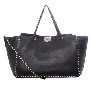 Valentino GWB00969 AVSF01 0NO Large Rockstud Pebbled Tote