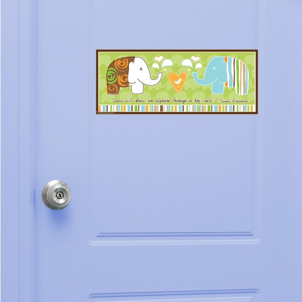 Peel & Stick Elephant Boy Door Sign