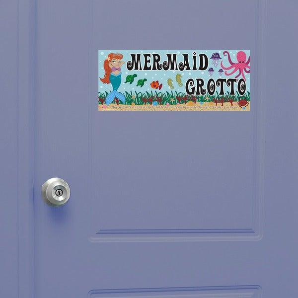 Peel & Stick Mermaid Door Sign