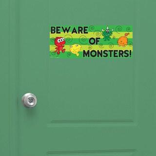 Peel & Stick Monster Door Sign