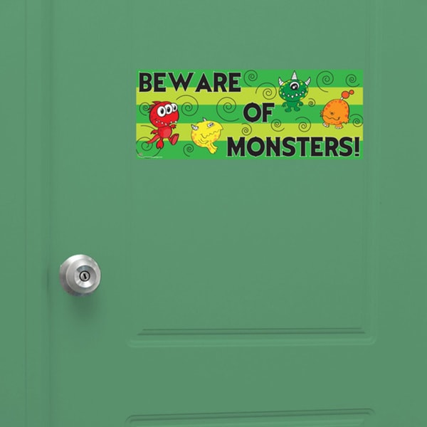 Peel & Stick Monster Door Sign