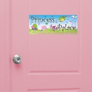 Peel & Stick Princess Door Sign