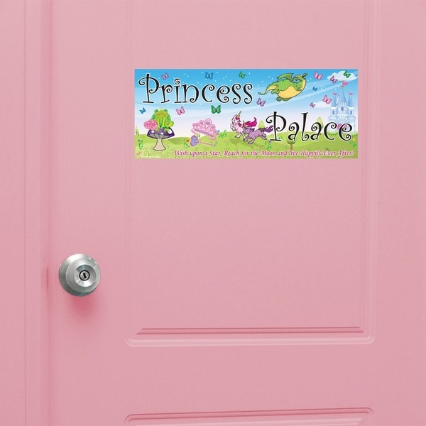 Peel & Stick Princess Door Sign