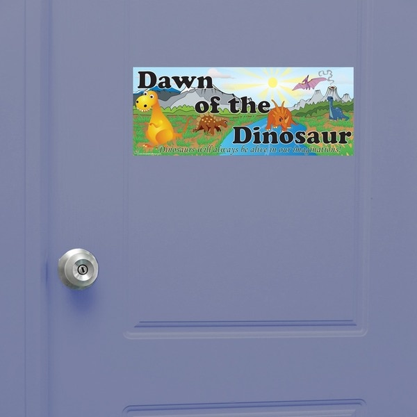 Peel & Stick Dinosaur Door Sign
