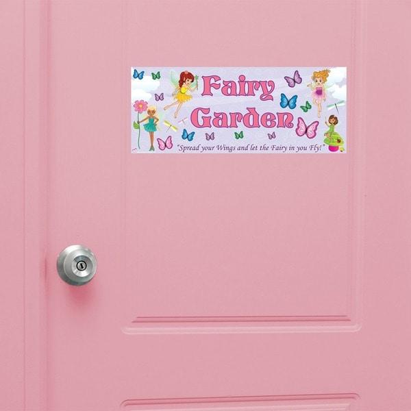 Peel & Stick Fairy Garden Door Sign