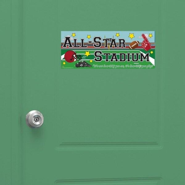 Peel & Stick Football Door Sign