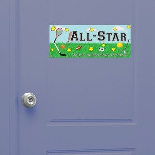 Peel & Stick Sports Door Sign