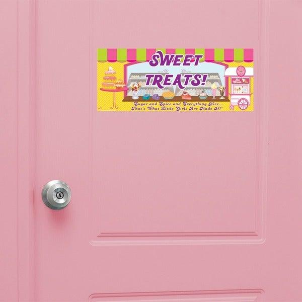 Peel & Stick Sweet Treats Door Sign