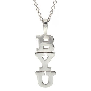 Journee Collection Sterling Silver 'BYU' Pendant