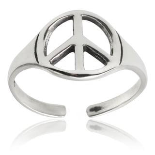 Tressa Collection Sterling Silver Peace Sign Toe Ring