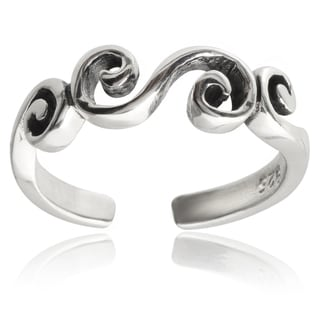 Tressa Collection Sterling Silver Swirl Toe Ring