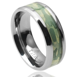 Vance Co. Men's Titanium Camouflage Inlay Band (8 mm)