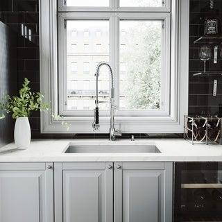 Vigo All-in-One 30-inch Undermount Stainless Steel Kitchen Sink and Chrome Faucet Set