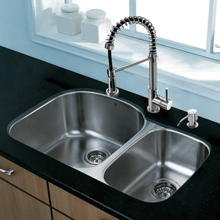 Vigo All-in-one 31-inch Undermount Stainless Steel Kitchen Sink and Chrome Faucet Set