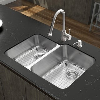 Vigo 32-inch Stainless Steel Kitchen Sink and Faucet Set