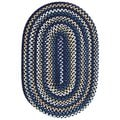 Watch Hill Black and Navy Braided Rug (5' x 8')