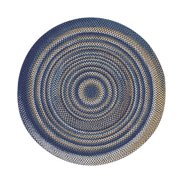 Beacon Hill Onyx and Navy Braided Rug (8' Round)