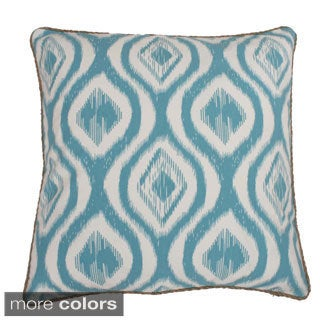 Ivan Ikat Print Feather Fill Throw Pillow