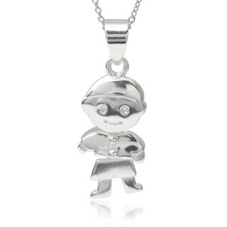 Tressa Collection Sterling Silver Boy Pendant