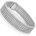 Sterling Silver 4/5ct TDW 5-Row Pave Diamond Bracelet (H-I, SI1-SI2)