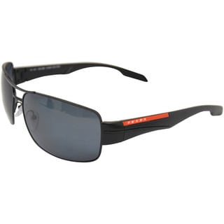 PS 53NS 1BO5Z1 Demi Shiny Black Polarized Gray by Prada for Men - 65-16-130 mm Sunglasses