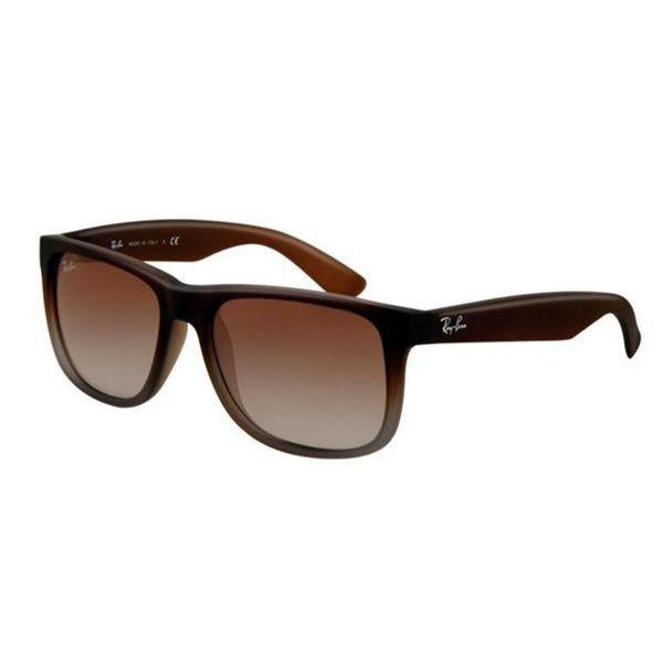 Ray Ban Justin RB4165 Unisex Black Frame Grey Gradient Lenses Sunglasses 27936416