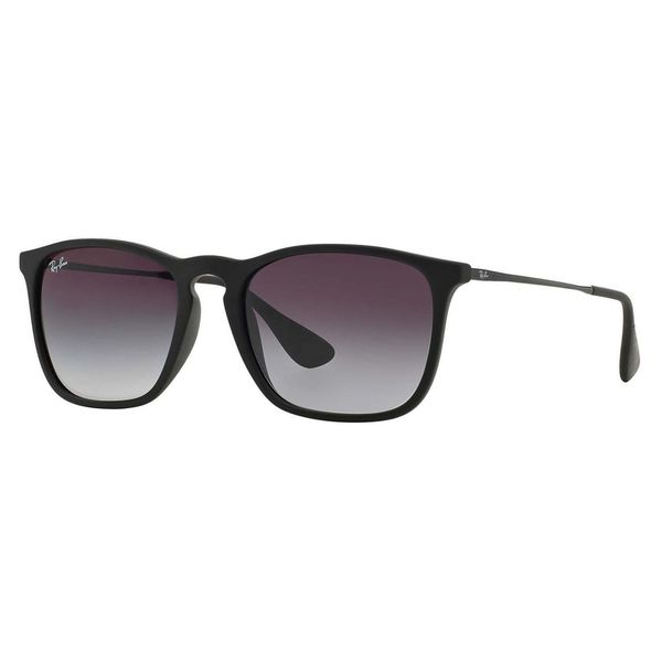RB 4187 Square Keyhole Youngster Rubber Black by Ray Ban for Men - 54-18 Sunglasses