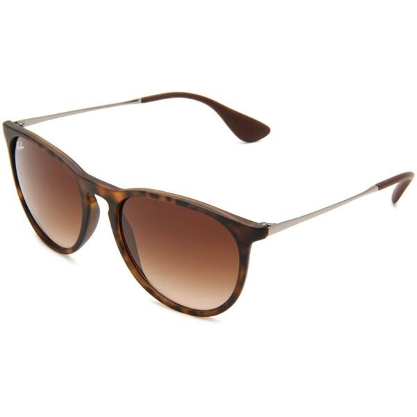 Ray-Ban Erika RB 4171 Unisex Tortoise/Gunmetal Frame Brown Gradient Lens Sunglasses 12888147