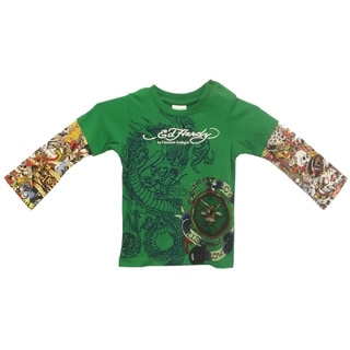 Ed Hardy Baby Double Sleeve T-Shirt